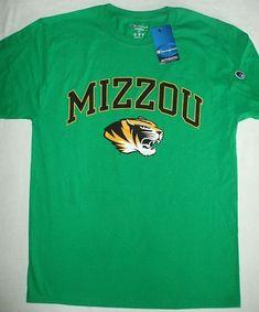 517b559d Mizzou T-Shirt Tiger University MissouriI Champion Truman Green Short  Sleeve M #Champion #
