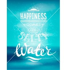Bright summer motivational poster about beach vector 4448120 - by MsMoloko on VectorStock®