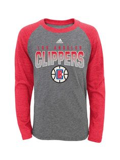 14 NBA Youth Girls Loud Fan Long Sleeve Hooded Tee Los Angeles Clippers-Red-L