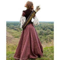 """Archeress"" Dress - medieval dress renaissance clothing ($490) ❤ liked on Polyvore"