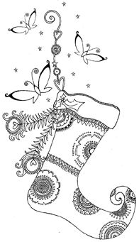 Impression Obsession-Cling Stamp-Stocking,$7.99