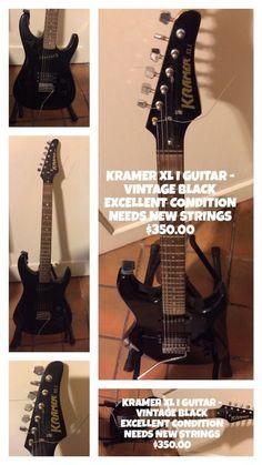 KRAMER XL I GUITAR - VINTAGE BLACK ( Musical Instruments ) in Coral Gables, FL - OfferUp