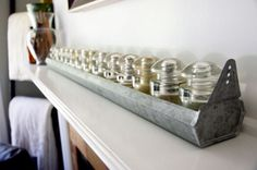 vintage chicken coop for home decor ideas   Vintage inspired chicken coop feeder with antique glass insulators @ ...