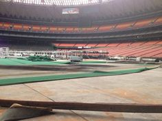 The Astrodome sits dark, dusty, dilapidated and haunted by Houston's history.