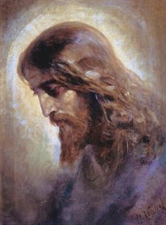 The Head of Christ, by Nikolai Koshelev. 1880s.