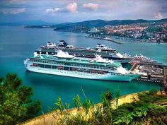 Kusadasi, Turkey is one of the prettiest ports of call on a #MediterraneanCruise Let us, Archaeologous.com help with your #ShoreExcursion #Kusadasi #Turkey #TurkeyTours #TurkeyVacations #BucketListVacations