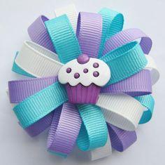 cupcake hair clip: