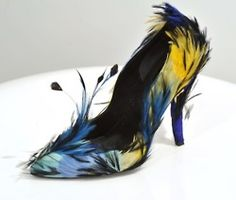 Blue feather Roger Vivier
