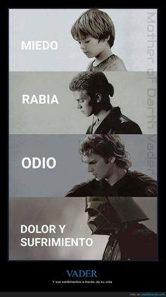 Los 4 sentimientos a través de la vida de Darth Vader - Y sus sentimientos a…