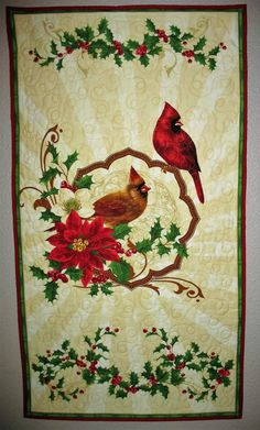 Christmas Wall Hanging or Table Topper by PicketFenceFabric