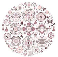 Mary rose cross-stitch - free