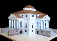 Villa Capra La Rotonda Free Building Paper Model Download - http://www.papercraftsquare.com/villa-capra-la-rotonda-free-building-paper-model-download.html#BuildingPaperModel, #VillaCapraLaRotonda
