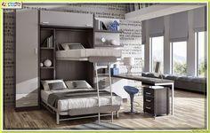 Muebles Juveniles | Dormitorios Infantiles y Habitaciones Juveniles en Madrid: COLECCION DE MUEBLES ABATIBLES Y AUTOPORTANTES PAR...