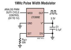 LTC6992 : Un générateur PWM commandé en tension (0-1V) configurable avec 1 seule résistance !