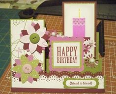 Birthday Stair Step Card, splitcoaststampers.com