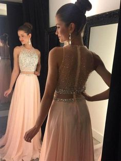 Sexy Prom Dress,a-line Round Neck Pink Prom Dress,long Prom Dress,chiffon Sequin Long Prom Pieces Evening Dress Open Back Prom Dresses, Prom Dresses 2016, Pink Prom Dresses, Sexy Dresses, Chiffon Dresses, Party Dresses, Occasion Dresses, Grad Dresses, Bridesmaid Dresses