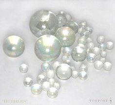 'Bubbles' clear glass Marbles, various sizes, in Cotton Bag Bubble S, Glass Marbles, Cotton Bag, Clear Glass, Ebay, Design, Decor, Decoration