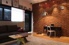 Aranżacja gabinetu wystrój nowoczesny w kolorach brązowy - projekt wnętrza #6147855, Homplex