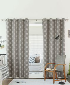 Another great find on #zulily! Gray Arrow Room-Darkening Curtain Panel - Set of Two #zulilyfinds