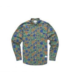 Poplin shirt with an all-over floral print design. - Norse Projects