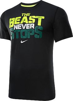 Unleash your inner workout animal with this NIKE® men's Legend Beast Never Stops short-sleeve t-shirt.