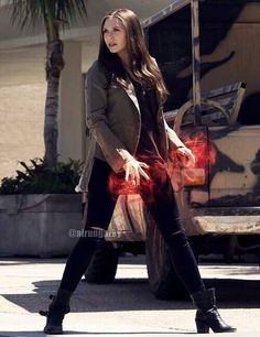 Elizabeth Olsen as Wanda Maximoff / Scarlet Witch on Captain America Civil War