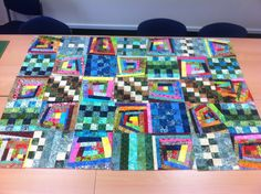 planning a cheerful batik mile a minute quilt Crumb Quilt, Quilt Pictures, Quilting Templates, String Quilts, Fiber, Scrap, Tutorials, Passion, How To Plan