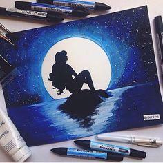 Beautiful artwork!  Done by @alicestvns  #disneyarts ❤️