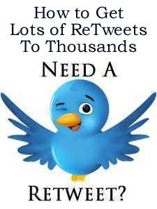1How to Get Lots of ReTweets To Thousands on Twitter Everyday http://fiverr.com/chivvy/show-you-how-to-get-your-ad-tweeted-to-thousands-of-people-on-twitter