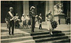 Alfonso XIII y Victoria Eugenia en la inauguración de la Exposición Universal de Barcelona