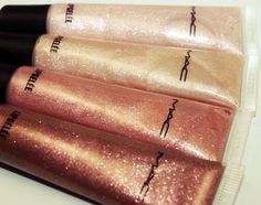 Variations of Gold shimmer gloss...MAC
