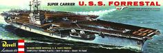 Revell USS Forrestal (CV-59) Aircraft Carrier Model Kit.