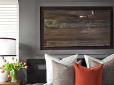 Architectural Artwork in Transform Your Bedroom With DIY Decor from HGTV
