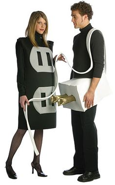 plug and socket costume... anyone else thinking dirty thoughts looking at this? lol