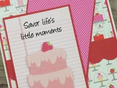 """SAVOR LIFE'S LITTLE MOMENTS"" FEMININE BIRTHDAY CARD PAPER PLAY SKETCH #29 - YouTube"