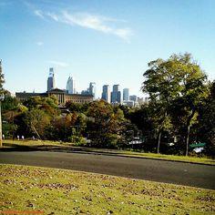 Autumn 2014 Philly Skyline from Lemon Hill.