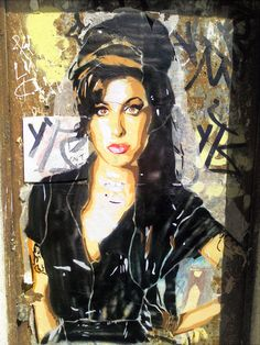 Amy Winehouse streetart