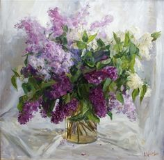old lilac painting