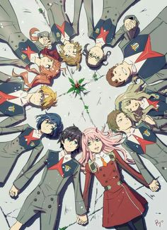 Hawks Discover Darling in the Franxx Anime: Darling in the Franxx_Personajes: Zero Kokoro y Cute Anime Pics, Anime Love, Film Animation Japonais, Manga Anime, Sketch Style, Tamako Love Story, Estilo Anime, Zero Two, Anime Kunst