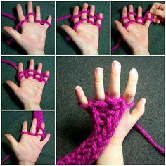 tejido con los dedos