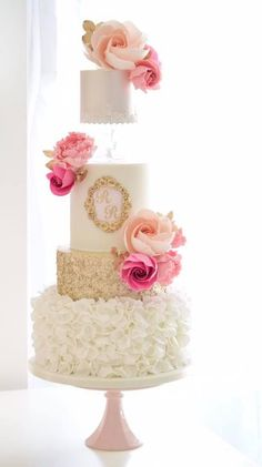 Featured Cake: Cotton & Crumbs; www.cottonandcrumbs.co.uk; Wedding cake idea.