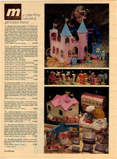 1984 Advert MY Little Pony Dream Castle Stable Carry Case Parlor Dolls | eBay