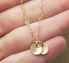 Gold Two Initial Necklace, two initials necklace gold, Custom Necklace Gold Initials, Letter Necklace Gold, Mothers Necklace Gold, 14k Gold
