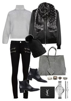 """""""Sans titre #2607"""" by christina95styles ❤ liked on Polyvore featuring Balenciaga, Paige Denim, Acne Studios, ADAM, Yves Saint Laurent, Burberry, FOSSIL and Charlotte Russe"""