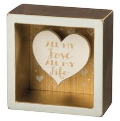 Item # 35240 | Box Sign - All My Life | Primitives by Kathy