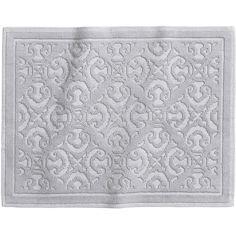 H&M Jacquard-weave bath mat (460 RUB) ❤ liked on Polyvore featuring home, bed & bath, bath, bath rugs, light grey, light gray bathroom rugs, woven bath mat and light grey bath mat