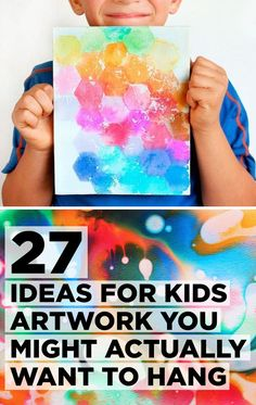 27 Ideas For Kids Artwork You Might Actually Want To Hang