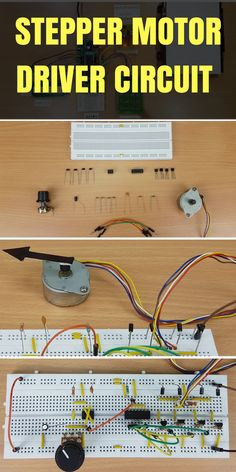 Here is the circuit diagram and working of simple stepper motor control using 8051 microcontroller. This circuit is used in many robotics applications. Electrical Projects, Electrical Engineering, Diy Electronics, Electronics Projects, Electronic Workbench, Diy Cnc, Circuit Design, Circuit Diagram, Arduino Projects