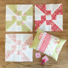 Carried Away Quilting sews the July Propeller blocks for the 2017 Patchwork Quilt Along with Fat Quarter Shop. Fabric: Fleurs by Brenda Riddle for Moda.
