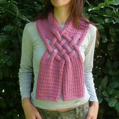 Scarf Knit PDF Pattern Weave PDF - easy tutorial, lot of pictures - adult knitting pattern unique design - UNISEX. $6.00, via Etsy.